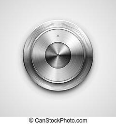 botão, metálico