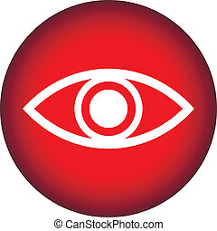 botão, olho