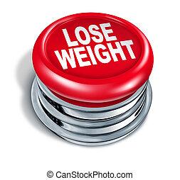 botão, peso, rapidamente, perder