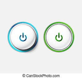 botão, poder
