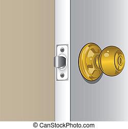botão, porta