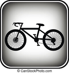 botão, quadrado, bicicleta, ícone, internet