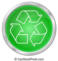 botão, reciclagem