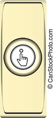 botão, sino metal