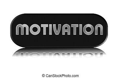 botão, sombreado, motivação, prata