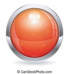 botão, vermelho
