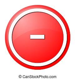botão vermelho, menos