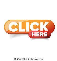botão, vetorial, clique