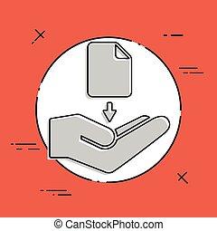 botão, -, vetorial, download, mínimo, ícone