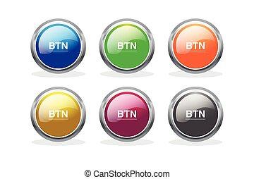 botão, vetorial, jogo