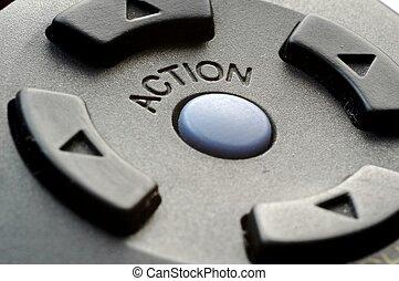 botón, acción