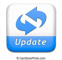 botón, actualización