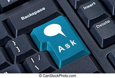 botón, ask., telclado numérico