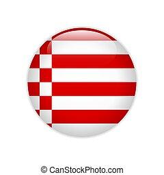 botón, bandera, bremen