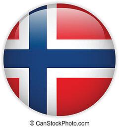 botón, bandera de norway, brillante