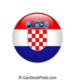 botón, bandera del croatia