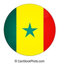 Mapa Coloreado Color País Resumen Bandera De Senegal