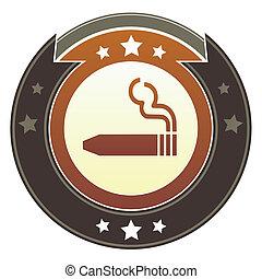 botón, cigarro, imperial