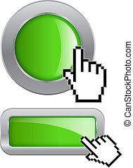 botón, clic