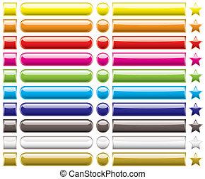 botón, colección, arco irirs