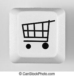 botón, compras en línea