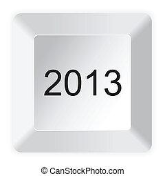 botón, computadora, 2013