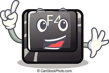 botón, computadora, f4, dedo, mascota
