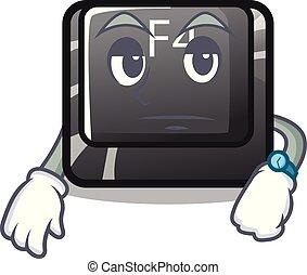 botón, computadora, f4, esperar, mascota
