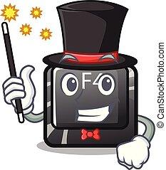 botón, computadora, f4, mago, mascota