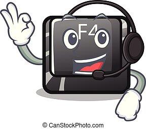 botón, computadora, f4, mascota, auricular