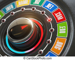 botón, concept., dominio, sitio web, perilla, nombre, interruptor, opción, internet, names.