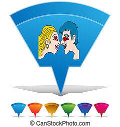 botón, conjunto, amor, gente