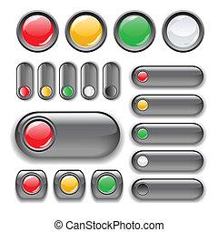 botón, conjunto