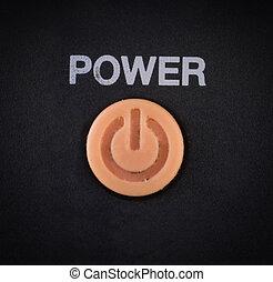 botón de la energía, blanco, plano de fondo