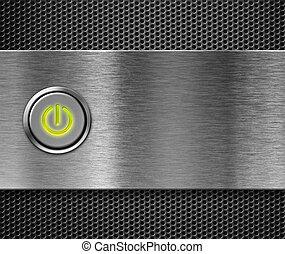 botón de la energía, en
