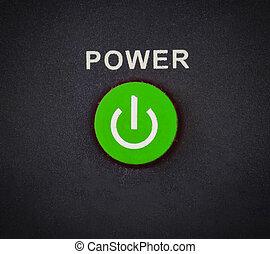 botón de la energía, en, el, fondo blanco