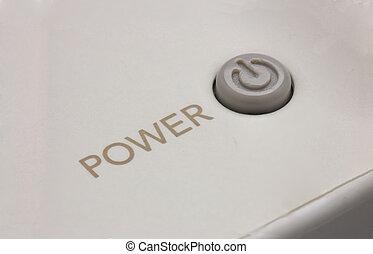 botón de la energía, en, juego consola