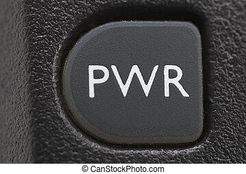 botón de la energía, en, viejo, teléfono celular