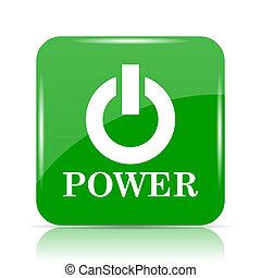 botón de la energía, icono