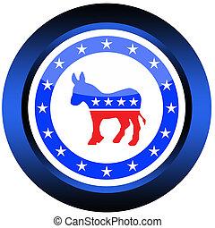 botón, democrático