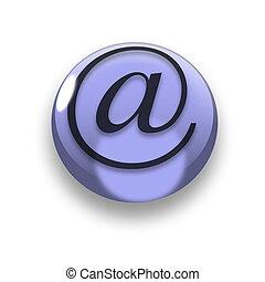botón, email, 3d