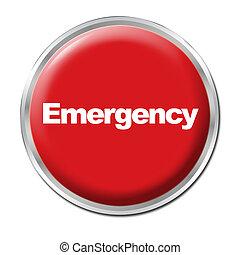 botón, emergencia