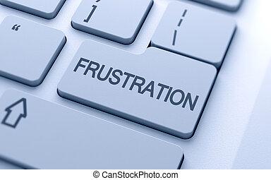 botón, frustración