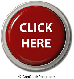 botón, gota, aquí, sombra, clic, rojo