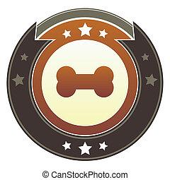 botón, hueso perro, imperial