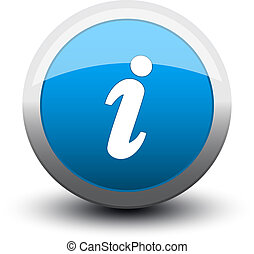 botón, información, 2d, azul