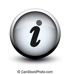 botón, información, 2d