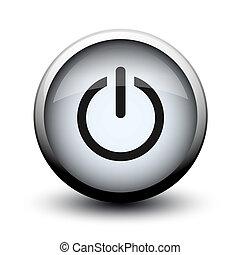 botón, interruptor, de, en, 2d