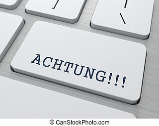 botón, -, keyboard., achtung!!!