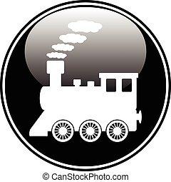 botón, locomotora